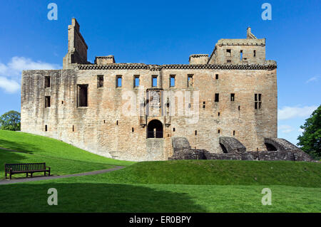Linlithgow Palace - birth-place of Mary Queen of Scots - In Linlithgow West Lothian Scotland - Stock Photo