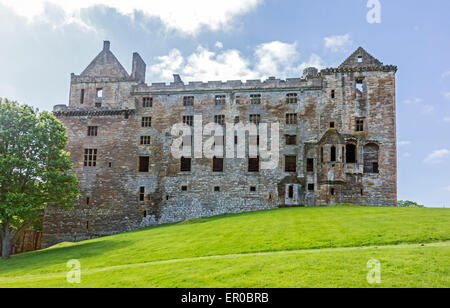 North view of Linlithgow Palace - birth-place of Mary Queen of Scots - In Linlithgow West Lothian Scotland - Stock Photo