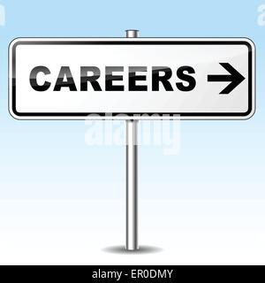 Illustration of careers sign on sky background - Stock Photo