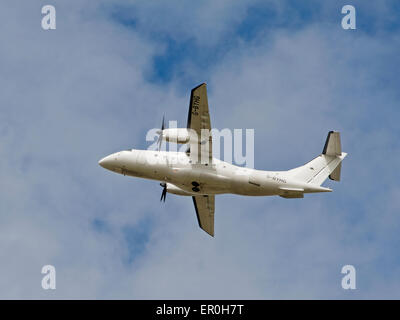 Dornier 328-110 34 seater short haul airliner of Loganair working from Inverness airport.  SCO 9808. - Stock Photo