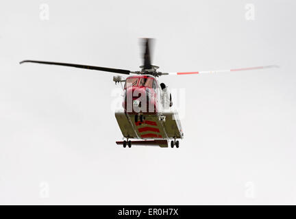 The Scottish Search and Rescue Coastguard S92A helicopter based at Inverness.  SCO 9809. - Stock Photo