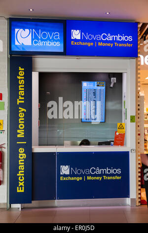 currency exchange desk in the departures area of terminal 2 dublin stock photo royalty free. Black Bedroom Furniture Sets. Home Design Ideas