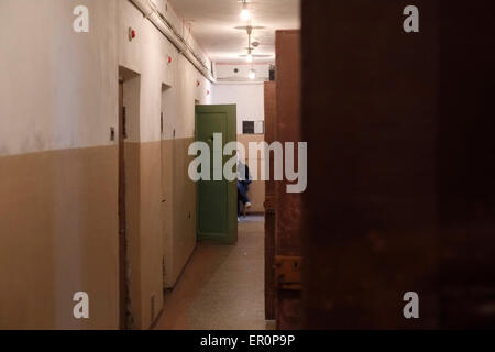Basement cells at the former KGB prison now the museum of Genocide Victims in the city of Vilnius capital of Lithuania - Stock Photo