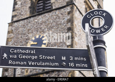 Medievil clock tower St.Albans, Hertfordshire, England, U.K. - Stock Photo