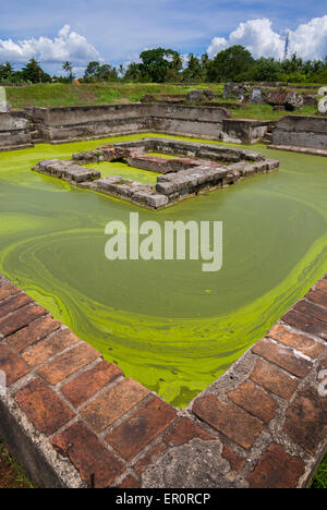 Ruins of royal pond at Surosowan palace, Old Banten, Java, Indonesia. - Stock Photo