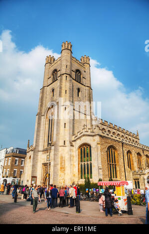 Cambridge, UK - April 9: Old Great St Mary's Church on April 9, 2015 in Cambridge, UK. It's a university city . - Stock Photo