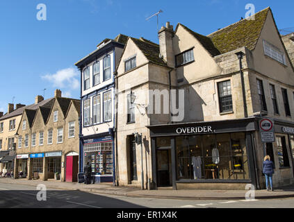 Shops in the town centre of Tetbury, Cotswolds. Gloucestershire, England, UK - Stock Photo