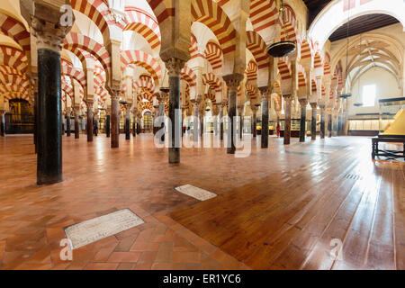 Cordoba, Cordoba Province, Andalusia, southern Spain.  Interior of the Great Mosque, La Mezquita. - Stock Photo