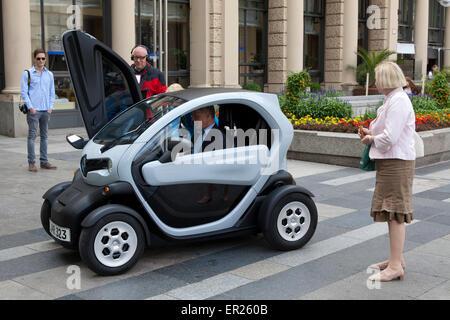 electric car Renault Twizy, Cologne, Germany.  das Elektroauto Renault Twizy, Koeln, Deutschland. - Stock Photo