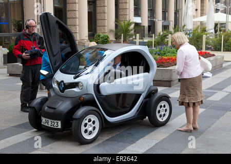 Europe, Germany, North Rhine-Westphalia, Cologne, at a PR event near the cathedral, the electric car Renault Twizy - Stock Photo