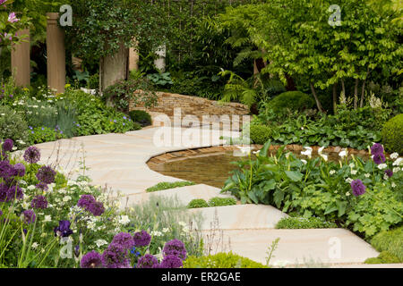 The Time In Between Garden  designed by Charlie Albone at The RHS Chelsea Flower Show, 2015, London, UK - Stock Photo