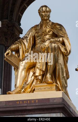 The Albert Memorial, Hyde Park, London, England - Stock Photo