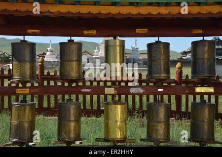 Inside the Erdene Zuu monastery complex in Karakorum, Ovorkhangai province. - Stock Photo