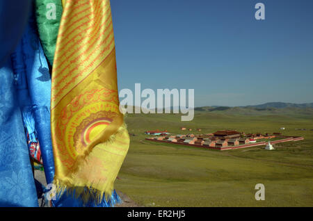 The Amarbayasgalant monastery in the northern Mongolia, Selenge province. - Stock Photo