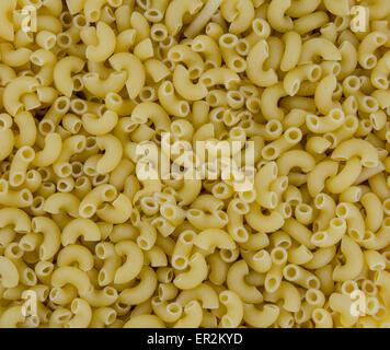 A Background Image Of Elbow Macaroni Stock Photo