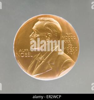 Nobel prize medal - Stock Photo