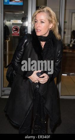 Celebrities at the BBC Radio 2 Studios  Featuring: Gillian Anderson Where: London, United Kingdom When: 21 Nov 2014 - Stock Photo