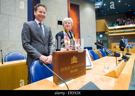 On Wednesday the president of the Court of Audits, Saskia Stuiveling presented the yearly financial report to the - Stock Photo