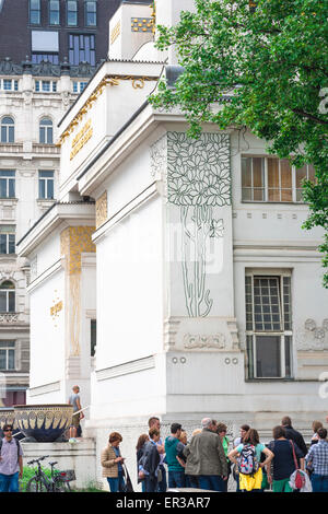 The Secession building in Vienna is the finest architectural example of the early 20th century art nouveau Jugendstil - Stock Photo