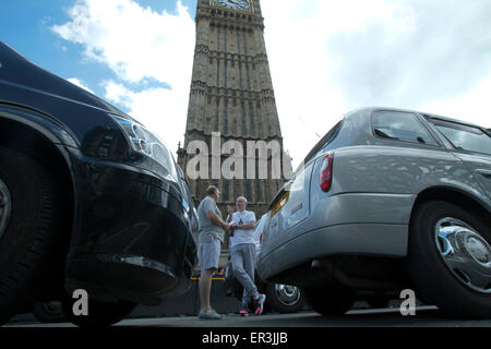 Westminster, London, UK. 26th May, 2015. Hundreds of Black cabbies organized by (UCG) United Cabbies Group staged - Stock Photo
