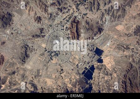 View from the International Space Station of Medina, Saudi Arabia - Stock Photo