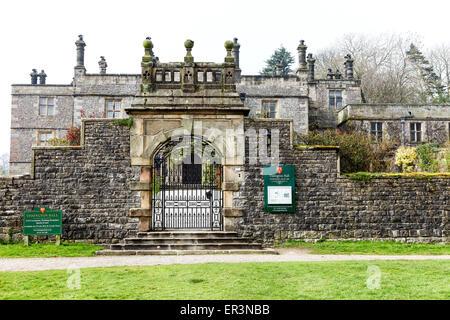Tissington Hall is an early 17th-century Jacobean mansion house in Tissington, near Ashbourne, Derbyshire, England, - Stock Photo