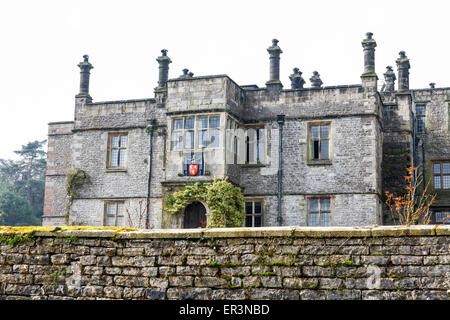 Tissington Hall is an early 17th-century Jacobean mansion house in Tissington, near Ashbourne, Derbyshire, England, - Stock Photo