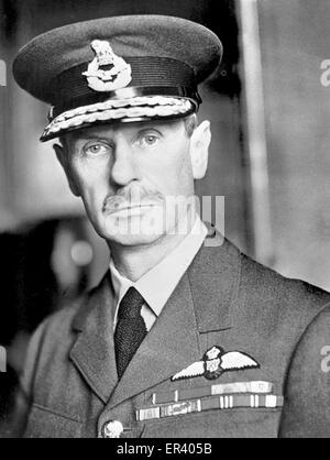 Commander-in-Chief, Air Chief Marshal Sir Hugh Dowding. Air Chief Marshal Hugh Caswall Tremenheere Dowding, 1st - Stock Photo
