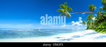 Tropical beach destination panorama. - Stock Photo