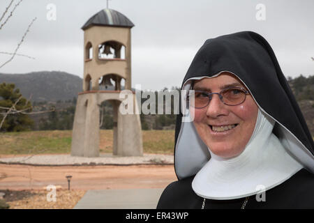 Virginia Dale, Colorado - Mother Maria Michael Newe, osb, the abbess of the Abbey of St. Walburga. - Stock Photo