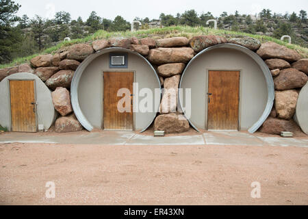 Virginia Dale, Colorado - Root cellars at the Abbey of St. Walburga, where Dominican nuns pray and run a cattle - Stock Photo