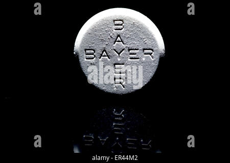 Cologne Germany 26th May 2015 An Aspirin Carbon Tablet Stock