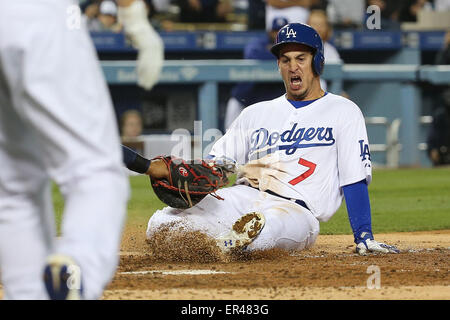 Los Angeles, CA, USA. 26th May, 2015. Alex Guerrero in the game between the Atlanta Braves and Los Angeles Dodgers, - Stock Photo