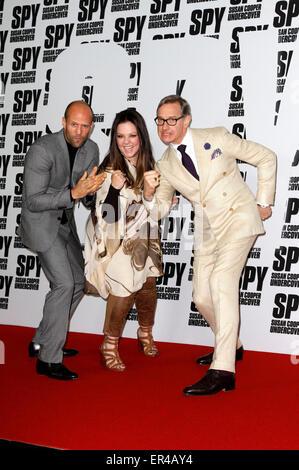 Berlin, Germany. 26th May, 2015. British actor Jason Statham, american actress Melissa McCarthy and American director - Stock Photo