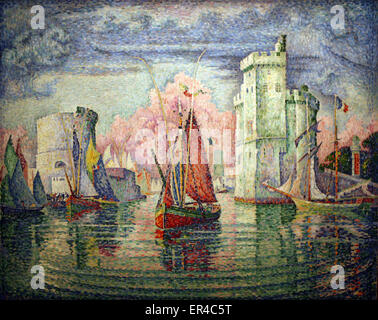 Entrance to the port of La Rochelle France by Paul Signac  1921 - Stock Photo