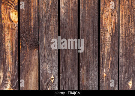 Dark, textured, wooden planks - Stock Photo