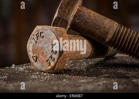 Rusty Bolts Detail - Stock Photo