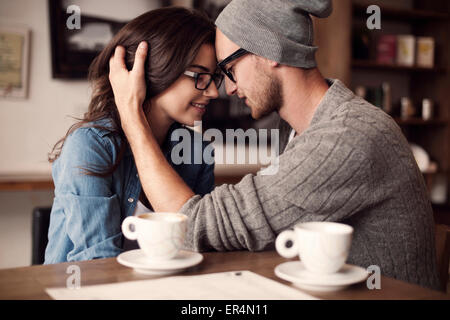 Romantic moments for young couple. Krakow, Poland - Stock Photo