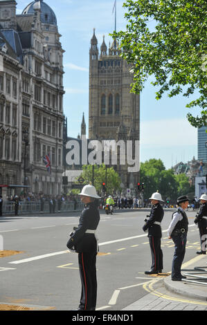Whitehall, London, UK. 27th May 2015. The Queen attends the The State Opening of Parliament 2015. Credit:  Matthew - Stock Photo