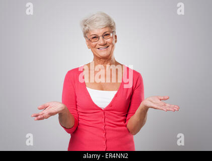 Happy old lady - Stock Photo