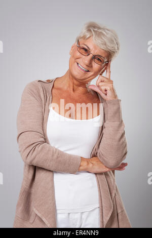 Lady with a good idea - Stock Photo
