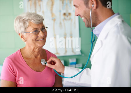 Visits in my doctor are no unpleasant. Debica, Poland - Stock Photo