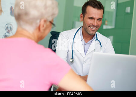 Visits in this doctor always are pleasure. Debica, Poland - Stock Photo