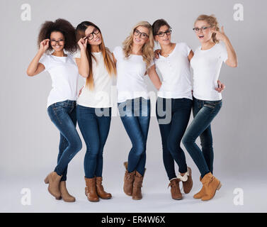Everyone can find good glasses frames for themselves. Debica, Poland - Stock Photo