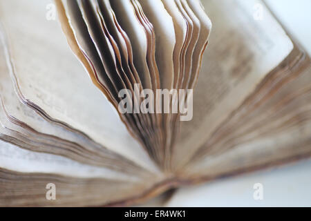 Open book of Psalms from 19th century - Stock Photo