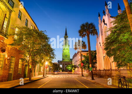 Charleston, South Carolina, USA on Church Street. - Stock Photo