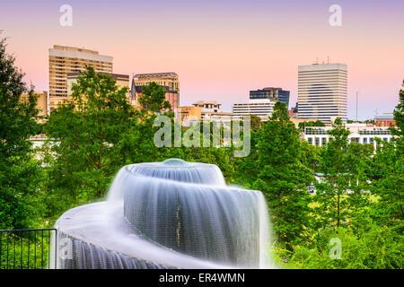 Columbia, South Carolina, USA at Finlay Park Fountain. - Stock Photo