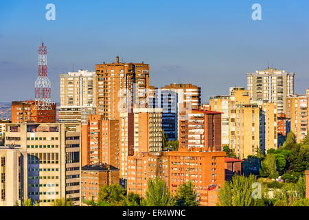 Madrid, Spain high rise buildings in the Chamartin District. - Stock Photo