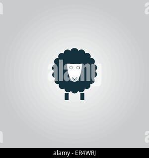 Sheep icon - Stock Photo