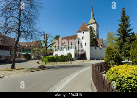 Early spring afternoon in Muttenz, Switzerland Stock Photo ...